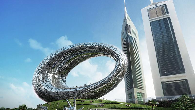 متحف المستقبل يعدّ حاضنة مميزة للابتكارات والتصاميم المستقبلية. من المصدر