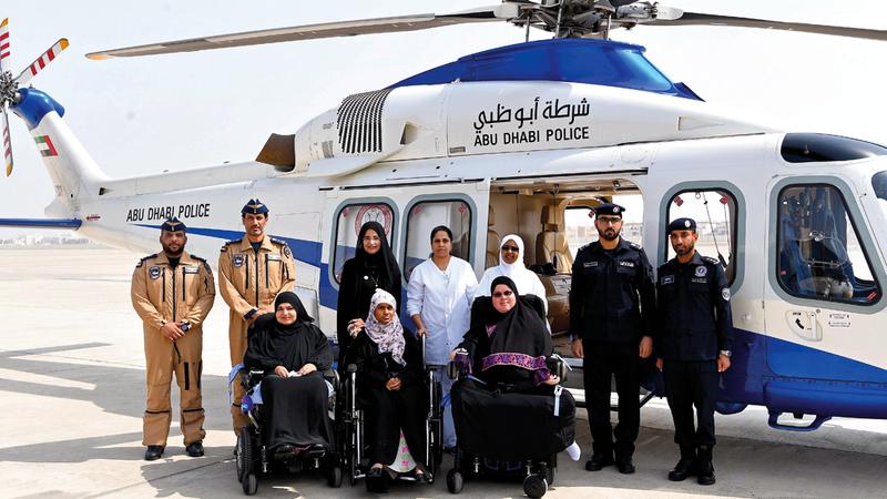 شرطة أبوظبي تعمل على إسعاد أفراد المجتمع وترجمة أحلامهم إلى حقيقة. من المصدر