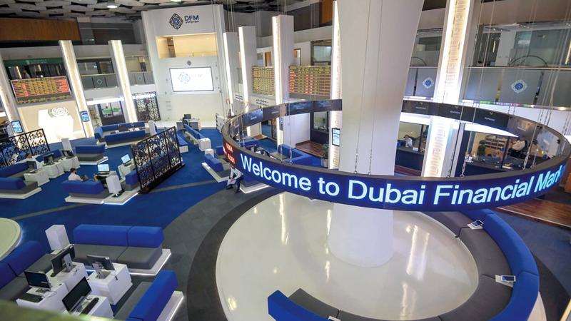المؤشر العام لسوق دبي المالي انخفض بنسبة 1.96% مغلقاً على 2920.1 نقطة. تصوير: أشوك فيرما