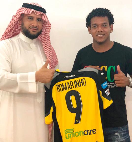 رومارينيو انضم إلى اتحاد جدة قادماً من الجزيرة.  من المصدر