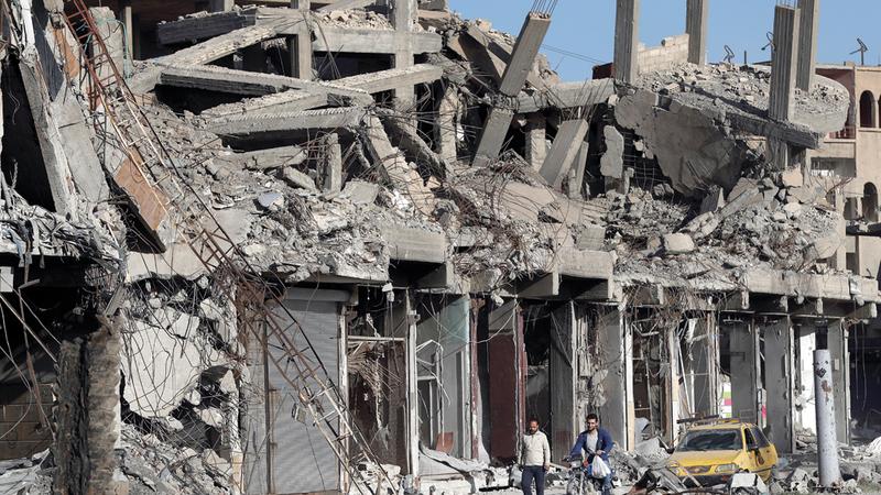 إعادة إعمار سورية تحتاج إلى جهد دولي. أ.ب