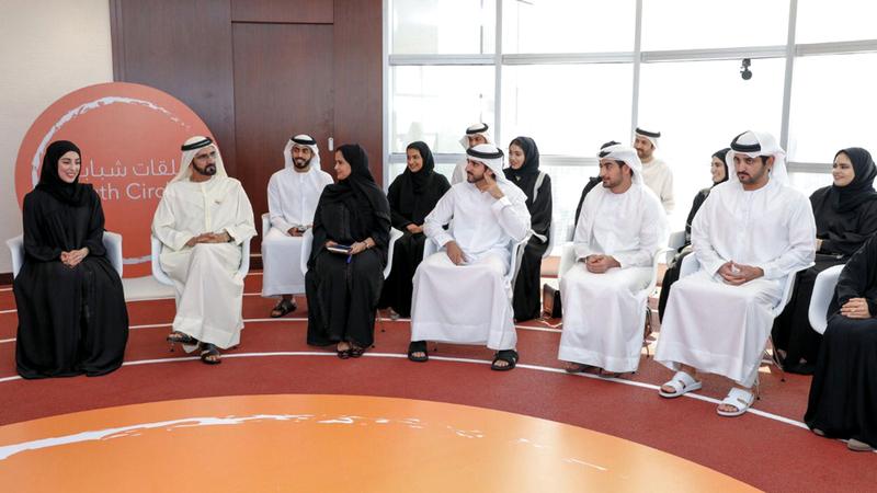 محمد بن راشد هنأ الشباب بيومهم العالمي في تغريدة على «تويتر». الإمارات اليوم