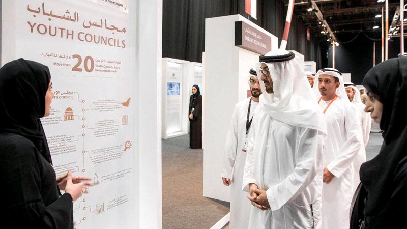 محمد بن زايد: نستحضر بدايات التمكين ونحن نشارك العالم الاحتفال بيوم الشباب. الإمارات اليوم