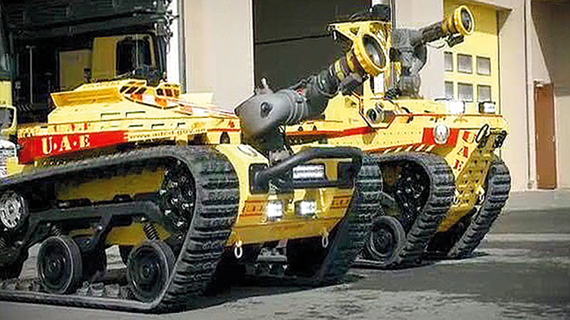 «الدفاع المدني» تستخدم أحدث التقنيات في مكافحة الحرائق. من المصدر