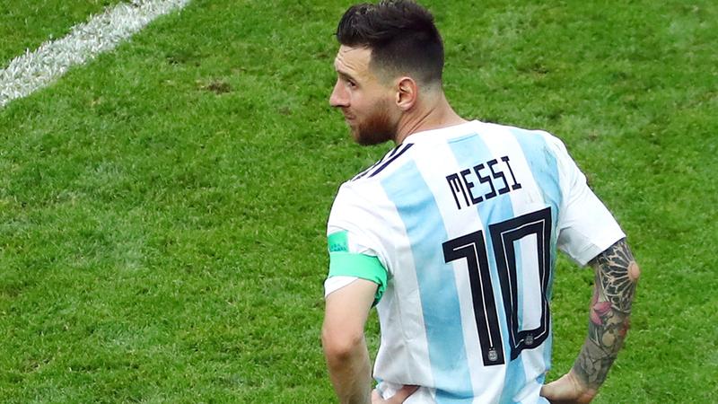 ميسي فشل في تحقيق أي لقب مع منتخب الأرجنتين حتى الآن. أ.ف.ب