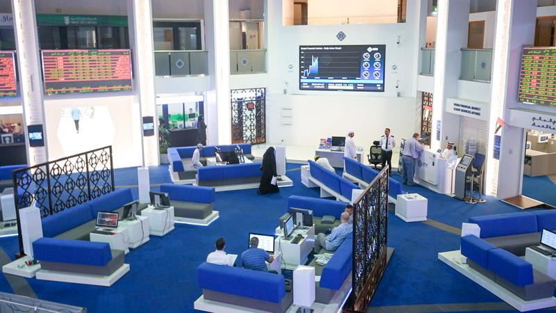 المؤشر العام لسوق دبي المالي انخفض بنسبة 3.99% وأغلق عند 2803.3 نقاط. تصوير: أشوك فيرما
