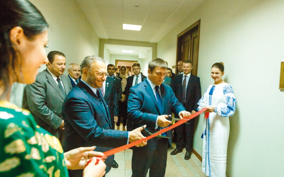 الصورة: توقيع مذكرة تفاهم دبلوماسية بين الإمارات وأوكرانيا وافتتاح مركز الدراسات العربية