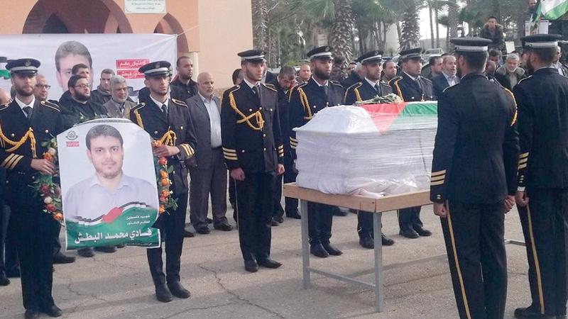 خلال تأبين العالم الفلسطيني الدكتور فادي البطش الذي قتل في ماليزيا أبريل الماضي. أرشيفية