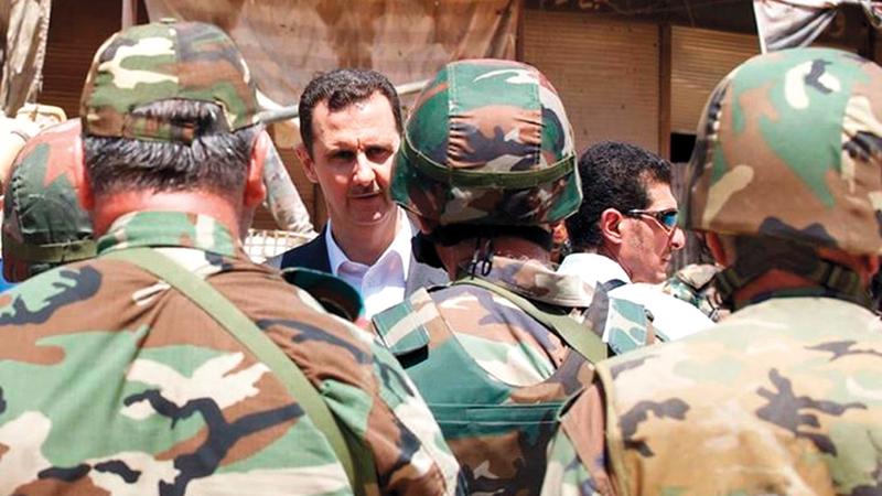 عمد نظام الأسد إلى قمع التظاهرات السلمية وفتح الباب أمام التمرد المسلح.  أرشيفية