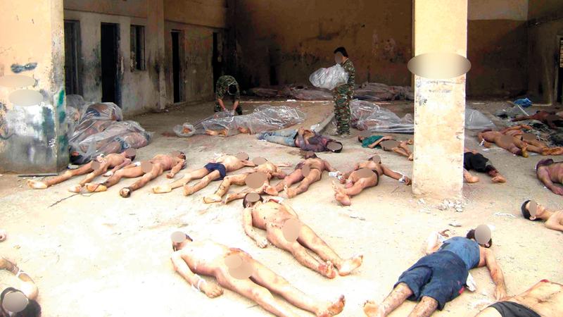 صورة من بين 55 ألفاً سرّبها رجل يعمل بالشرطة العسكرية لجثث أشخاص قضوا تحت التعذيب في سجون النظام السوري. غيتي