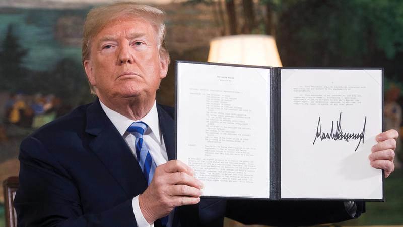 انسحاب ترامب من الاتفاق النووي كانت له عواقبه على إيران. أ.ف.ب