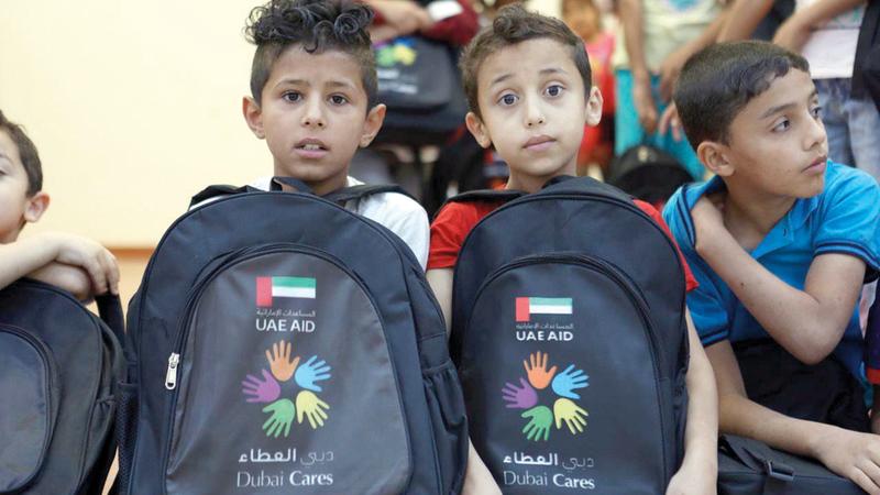 «المبادرة» تمنح الأطفال المتأثرين بالأزمات الأمل في الحياة. من المصدر
