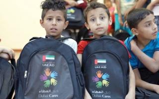 الصورة: توزيع 50 ألف حقيبة مدرسية  على الأطفال السوريين في الأردن