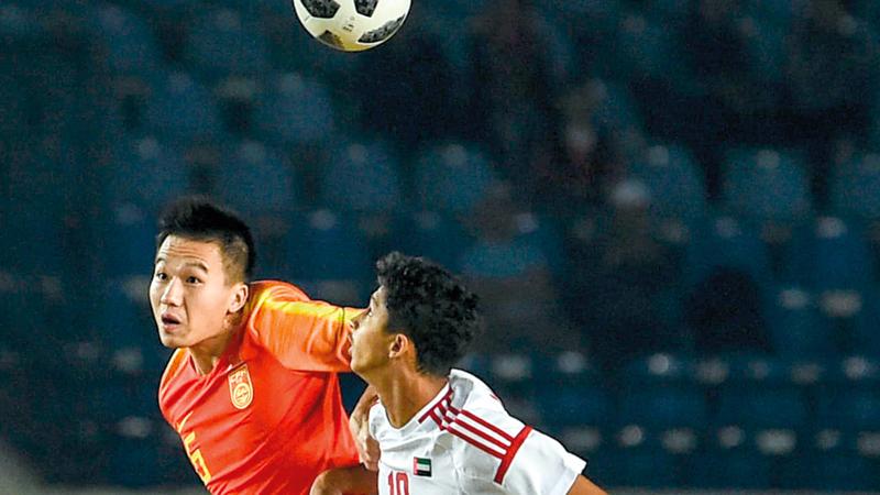 المنتخب الأولمبي خسر أمام نظيره الصيني 1-2. من المصدر