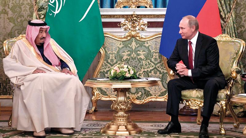 الملك سلمان بن عبدالعزيز في أول زيارة لملك سعودي إلى روسيا. أرشيفية