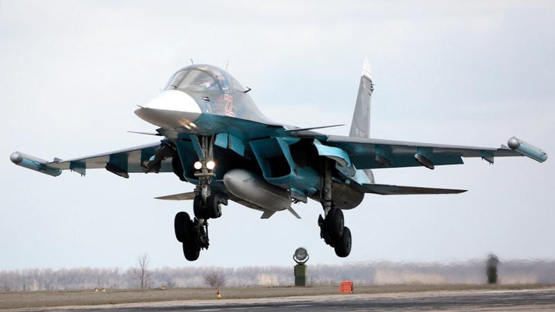 المقاتلة الروسية نفذت مئات العمليات العسكرية في سورية. أرشيفية