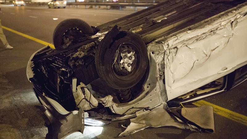 السرعة الزائدة تُعد أحد أخطر العوامل في الحوادث المرورية. أرشيفية