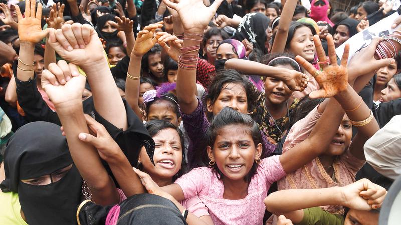 الأمم المتحدة حذرت من «جيل ضائع» من أطفال الروهينغا. أ.ف.ب
