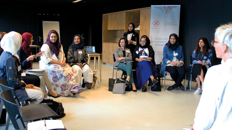 المشاركات انخرطن في جلسات حوارية قدمها رواد أعمال اجتماعيون وخبراء. من المصدر