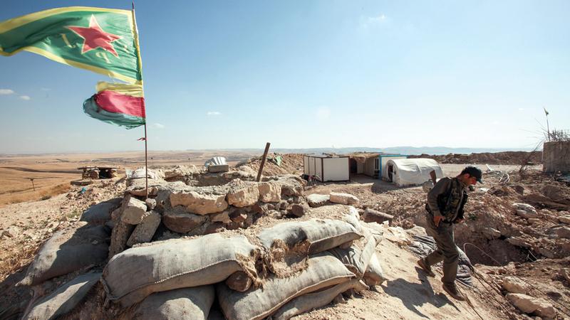 «وحدات حماية الشعب» بدأت تجنيد وتدريب مقاتلين جدد لمحاربة تنظيم «داعش». غيتي