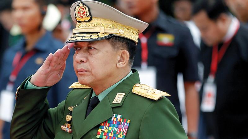 القائد الأعلى لجيش ميانمار مين أونغ هلاينغ.   رويترز