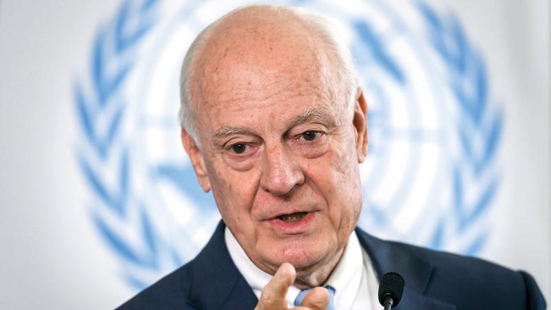 دي ميستورا:  «المحادثات الجارية بين روسيا وتركيا  تمثل الأساس لتقرير مصير منطقة إدلب».