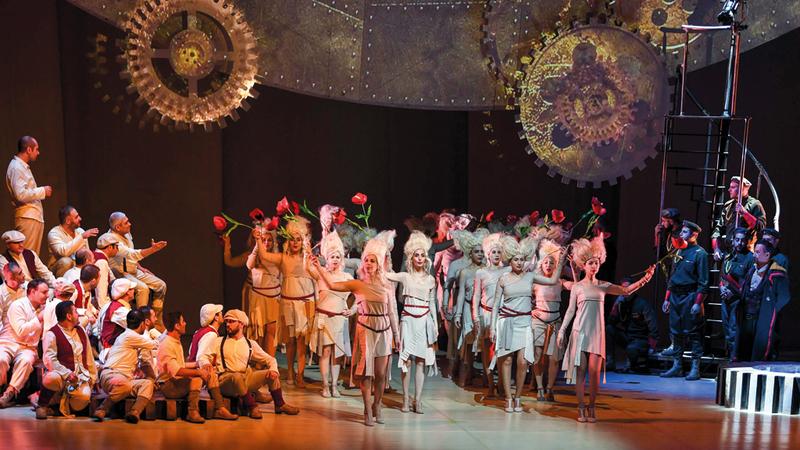 العمل سيقدم بحُلة جديدة ورقصات تم تصميمها خصيصاً لـ«أوبرا دبي». تصوير: أشوك فيرما