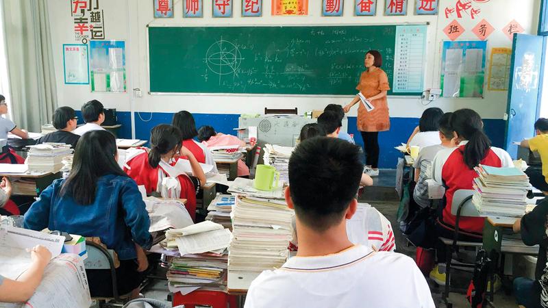 بعض المدارس الصينية معروفة بصرامتها في التعليم. أرشيفية