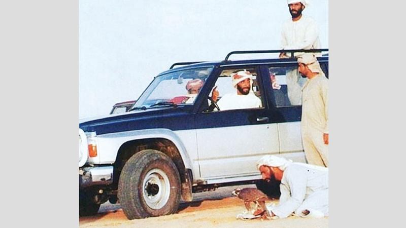 الكتبي كان يرافق الشيخ زايد دائماً ويستمع إلى حكمته وأقواله. أرشيفية