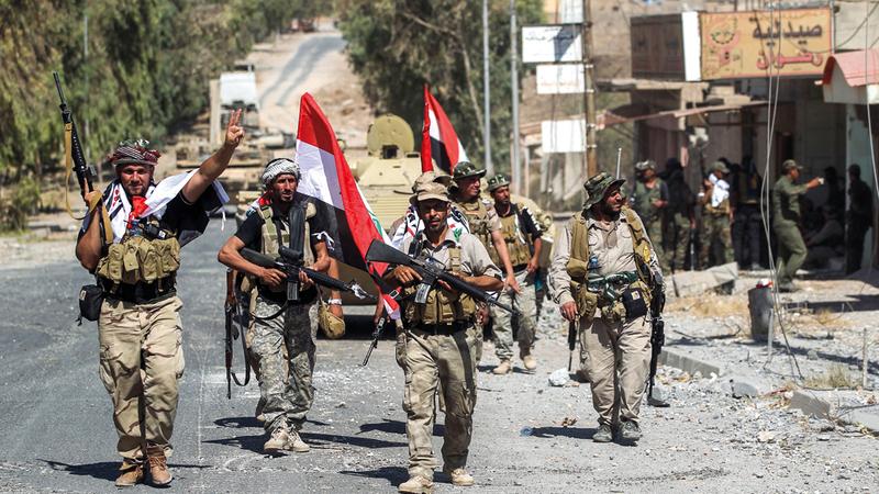 مقاتلو الحشد الشعبي تم دمجهم في نسيج القوات الحكومية. أ.ف.ب