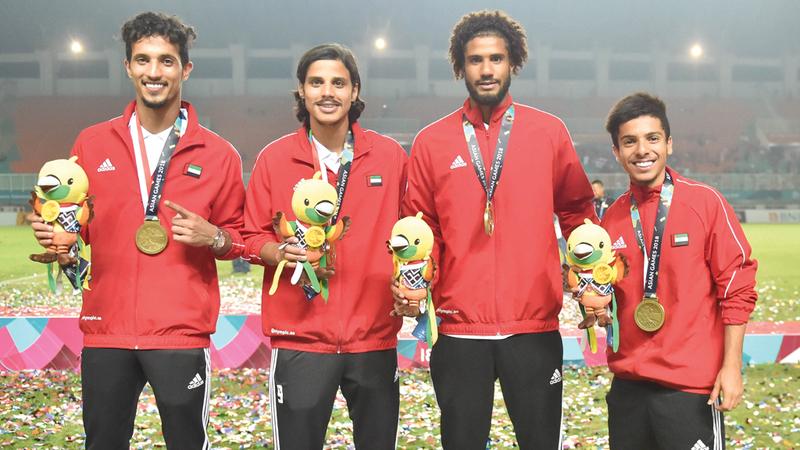 نجوم المنتخب الأولمبي متوّجون بالميدالية البرونزية في الآسياد. من المصدر