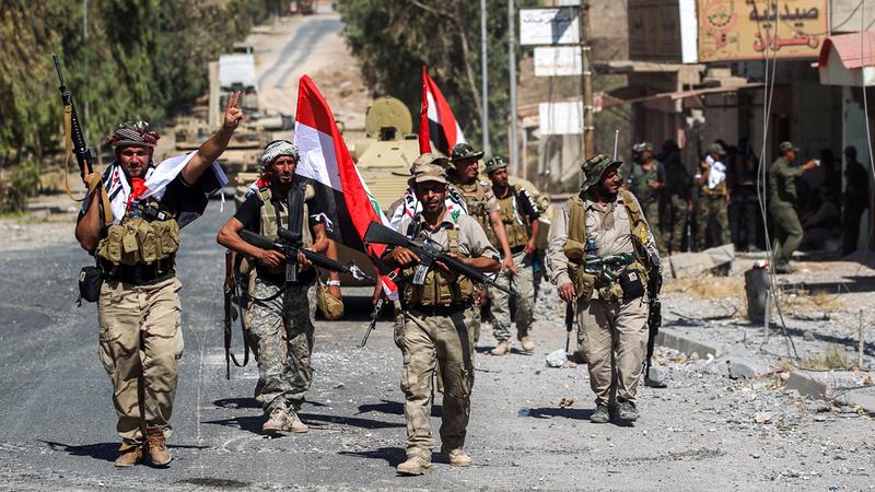 واشنطن تخشى وصول التمويل الذي تقدمه لقوات الأمن العراقية إلى «الحشد الشعبي». أ.ف.ب