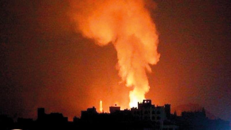 الغارات الإسرائيلية تستهدف البنية التحتية الإيرانية في سورية. أرشيفية