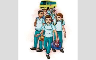 الصورة: ذوو طلبة: إعادة توزيع أبنائنا على مدارس في مصفوت ومزيرع وحتا أرهقتهم