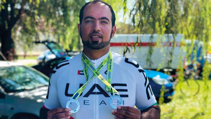 المنصوري شارك في جولات كأس أوروبا للدرّاجات الهوائية لأصحاب الهمم. من المصدر