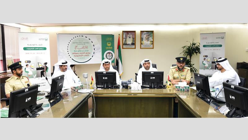 شرطة دبي خلال الإعلان عن حملة التوعية بمخاطر الألعاب الإلكترونية. من المصدر