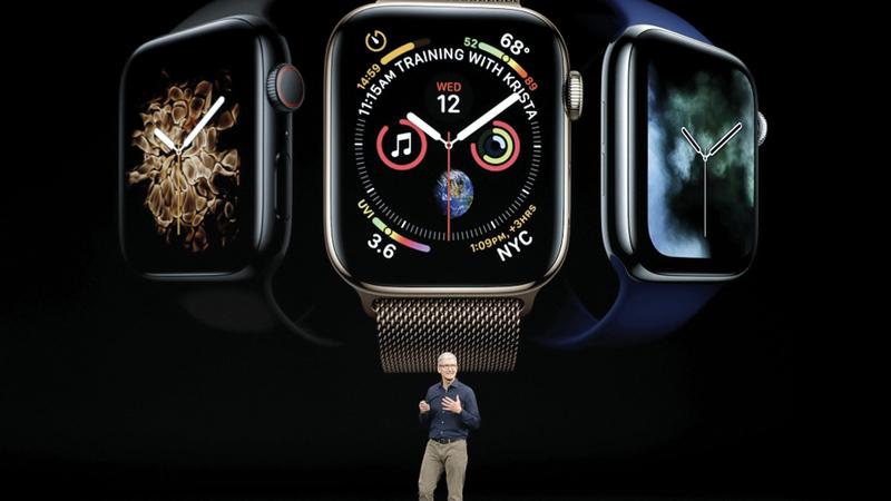 الشركة وصفت ساعتها الجديدة بأنها جهاز شامل للصحة. أ.ب