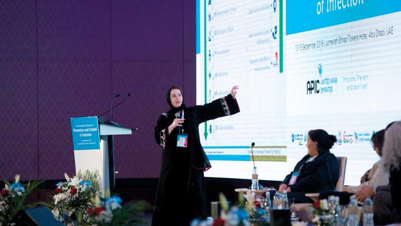 نخبة من الخبراء يشاركون في المؤتمر الدولي للوقاية من العدوى. من المصدر