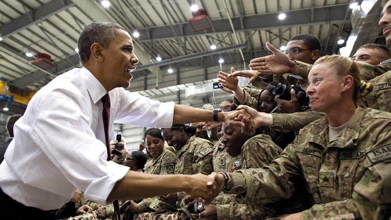 أوباما شن حملة لصالح الخروج من العراق وإنهاء المهمة في أفغانستان.  أرشيفية
