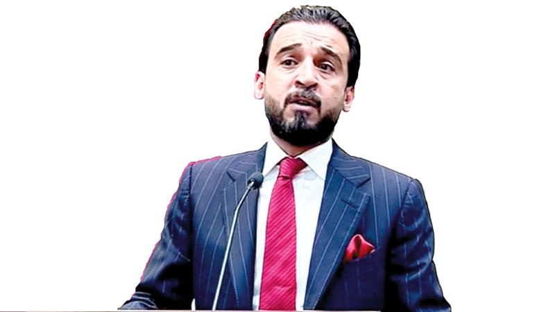 محمد الحلبوسي أصبح أصغر رئيس للبرلمان في تاريخ العراق. أ.ف.ب
