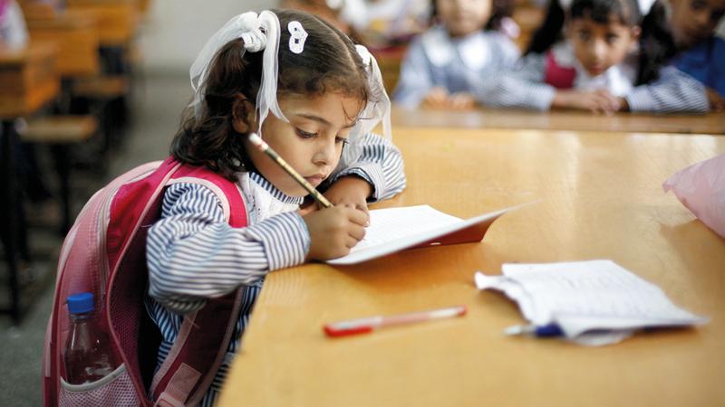 المدارس التي لا تتبع وزارة المعارف والبلدية الإسرائيلية تعاني نقصاً حاداً في الإمكانات. الإمارات اليوم