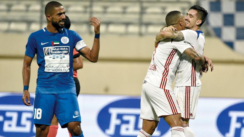 الشارقة حقق فوزاً كبيراً على النصر في الجولة الثانية من الدوري. تصوير: أسامة أبوغانم