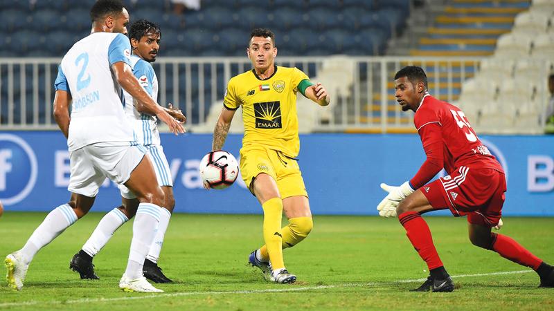 كايو أحد أبرز مفاتيح اللعب والفوز في صفوف الوصل. الإمارات اليوم