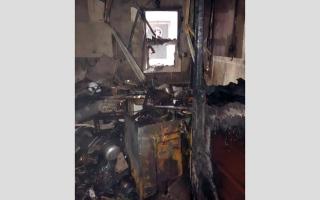 إصابة 9 أشخاص بحريق غسالة ملابس