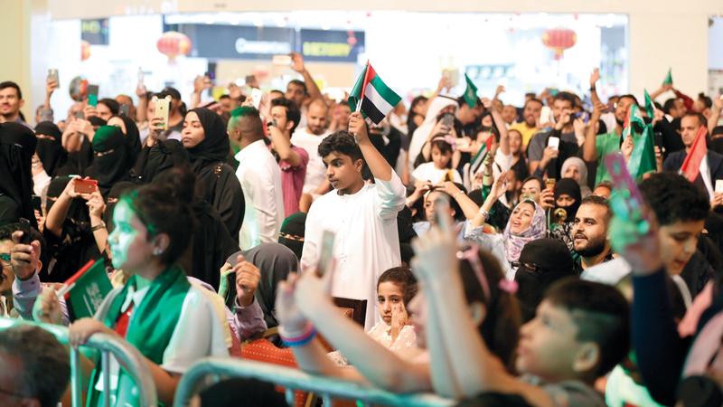 الاحتفالات تأتي انسجاماً مع العلاقات الأخوية والروابط التاريخية بين الإمارات والسعودية. أرشيفية