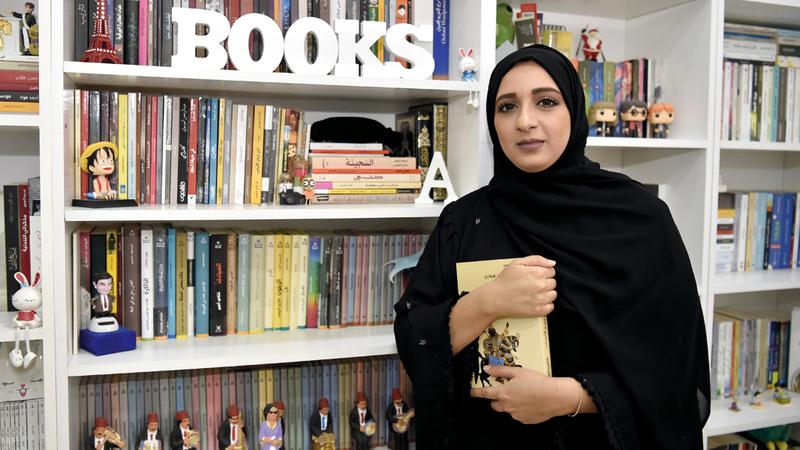 أماني أكدت أن القراءة بالنسبة لها «أسلوب حياة» وليست مجرد شغف عابر. تصوير: أسامة أبوغانم