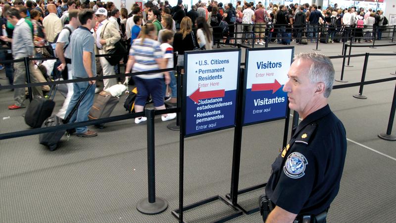 أميركا تشددت في إجراءات السفر عقب هجمات سبتمبر 2001.  أرشيفية