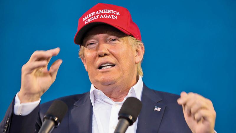 القبعة «ماغا» اعتمرها ترامب خلال حملته الانتخابية.  أرشيفة