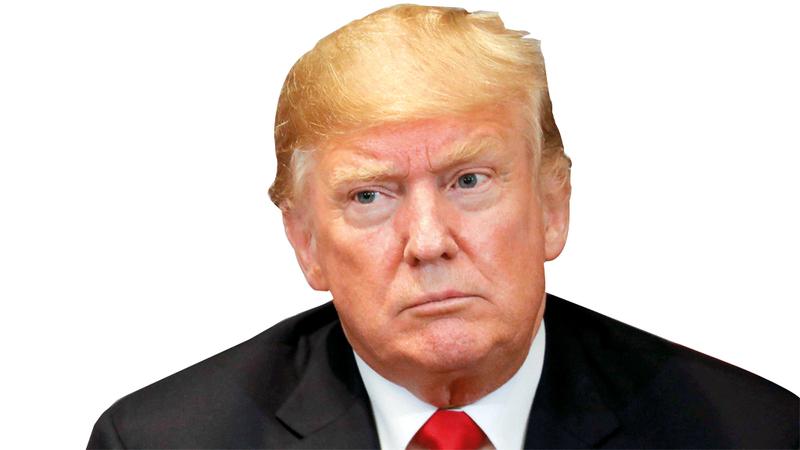 ترامب يبالغ في ثقته بنفسه.  أ.ف.ب