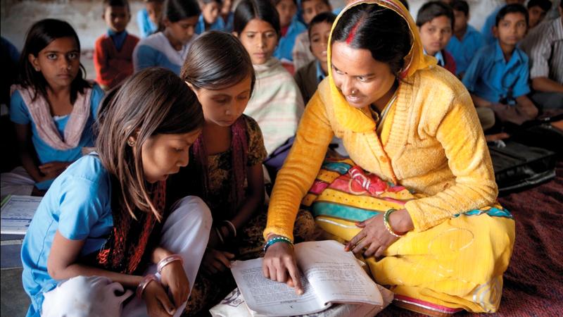 تعليم الفتيات في شبه القارة الهندية يواجه الكثير من العقبات.  أرشيفية
